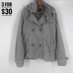 Gap kids jacket grey with double breasted buttons